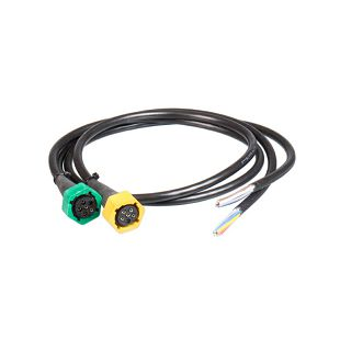 Konektori SET - 5 pin lijevi žuti+5 pin desni zeleni+kabel 1 m