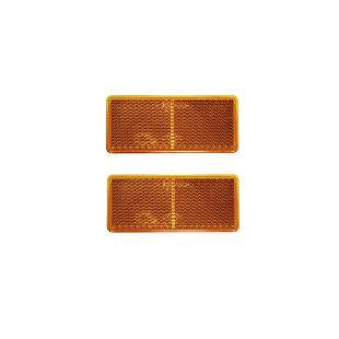 Katadiopter kvadratni 90x40 narančasti samoljepljivi (2 kom)