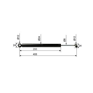 AMORTIZER BPW ZAF 1,0-3 CC=450 mm