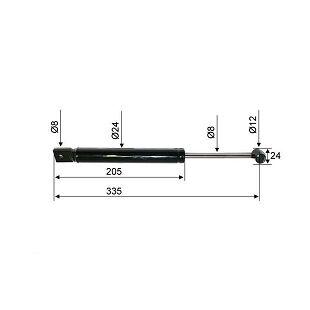 AMORTIZER BPW PAV/SR 2,0 335 mm
