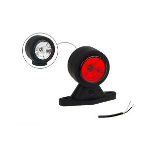 LED svjetlo gabaritno 88x118X45 bijela/crvena+kabel 400 mm L/D