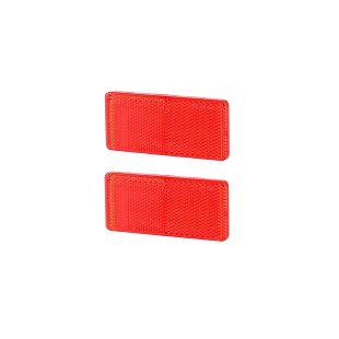 Katadiopter kvadratni 94x44 crveni samoljepljivi (2 kom)